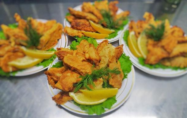 Рыба в кляре (тилапия)